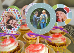 Photograph Cupcake Toppers