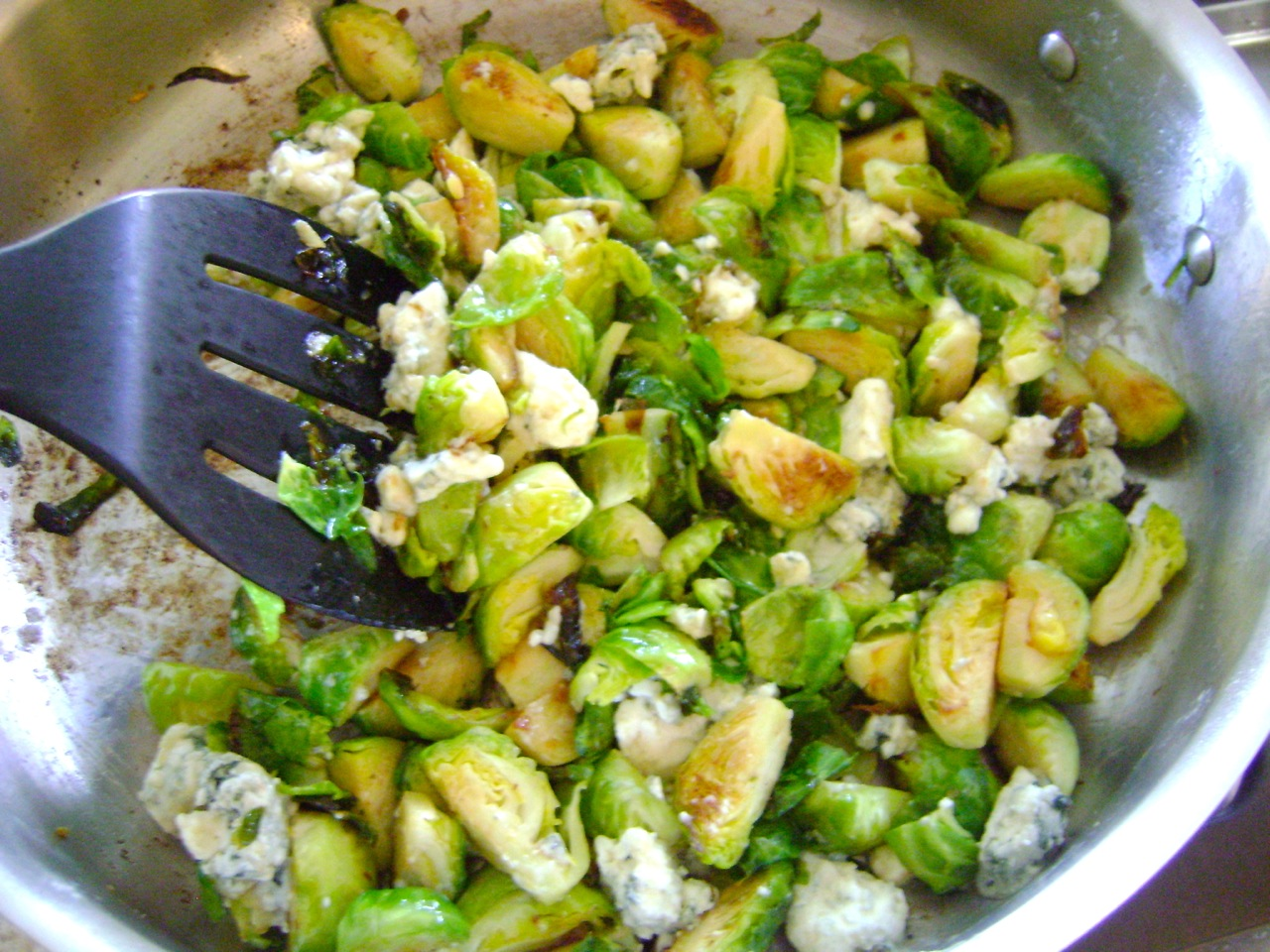 Brussel Sprouts and Blue Cheese