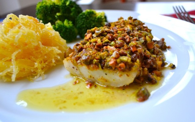 Recipe for Pistachio-Crusted Cod