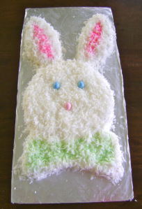 Angel Food Easter Bunny Cake: Step by Step