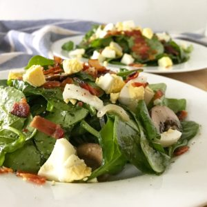 Warm Spinach Salad with Bacon